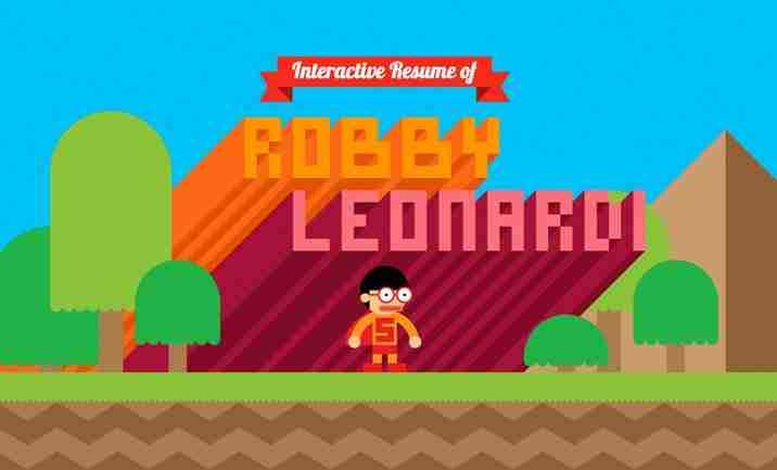 Robby Leonardi interaktive cv, CV interaktivo di Robby Leonardi