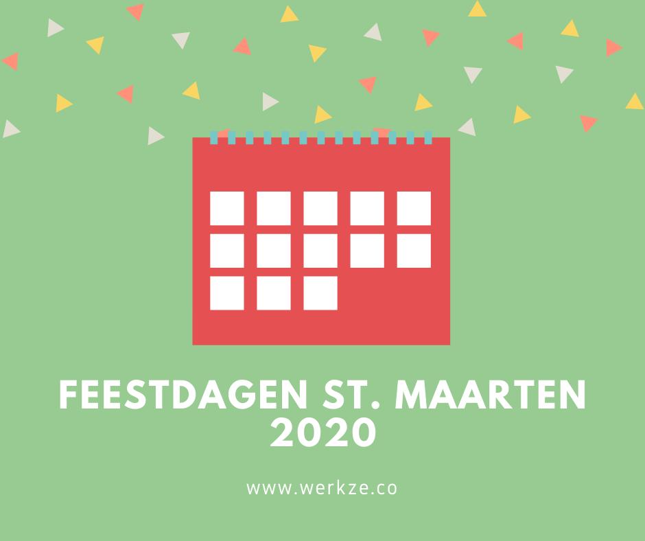 2020 Feestdagen op st. Maarten